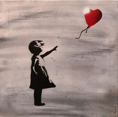 Banksy- Dipinto- Spray Art