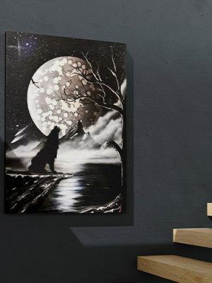 Lupo Black&White- Wolf Art