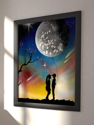 Ti Regalo La Luna- Fidanzato che regala la luna alla fidanzata come fosse palloncino- Wolf Art